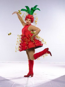 Bottle Brush Flower Costume For 'Finally'